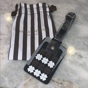 Henri Bendel Luggage Tag Leather Brand New
